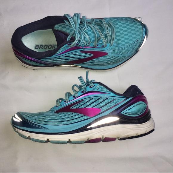 Brooks Shoes | Transcend 4 Blue Pink